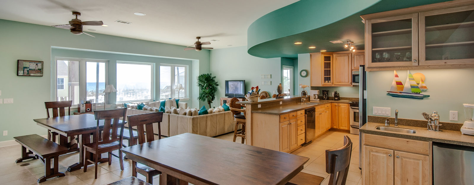 Kitchen and Dining -Paradise Coastal Realty
